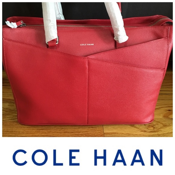 5f4c134ce39 Cole Haan Bags | Final Drop Red Tote Purse | Poshmark